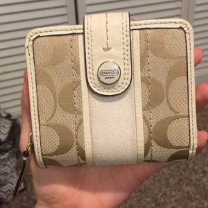Mini tan Coach wallet
